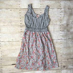 Mossimo Gray Blue Floral Summer Sun Dress